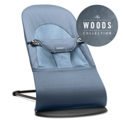 Кресло - шезлонг BabyBjorn Balance Soft Cotton Woods Fog blue