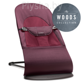 Кресло - шезлонг BabyBjorn Balance Soft Cotton Woods Plum red