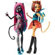 Набор из 2 кукол Monster High: Кэтти Нуар и Торалей Страйп – Fierce Rockers